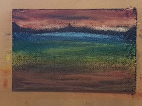 Abstract Landscape in Mixed Media - Stage 2