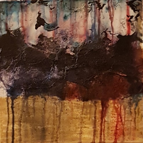 Abstract Mixed Media - Acrylic, Ink and Powder Pigment